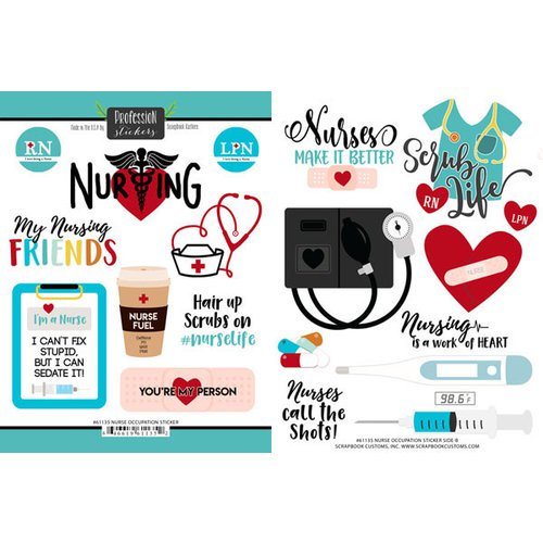 Scrapbook Customs- Nurse Occupation Sticker