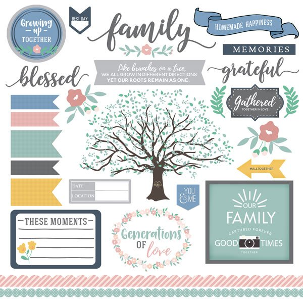 Scrapbook Customs-Family Elements Stickers 12x12
