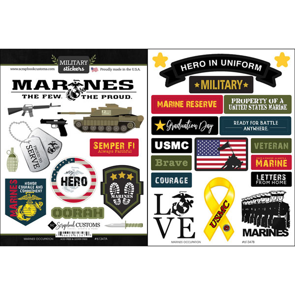 Marine Occupation stickers