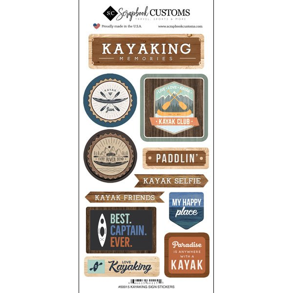 KAYAKING, LIFE IS BETTER STICKER - Scrapbook Customs