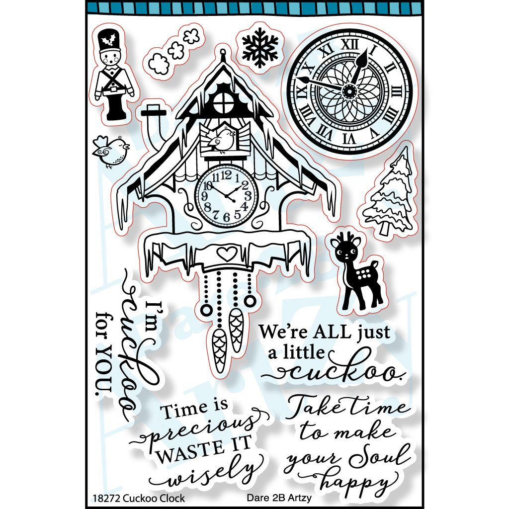 Cuckoo Clock Stamp- Dare 2B Artzy