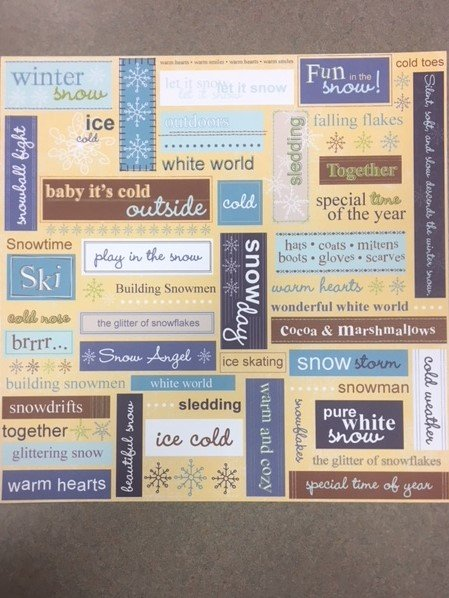 Words-Cold Weather Collection Paper- Adorn It