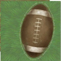 Jumbo Football Football Collection - 12X12 Adornit Paper