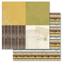 Sunflower Tickertape - Sunflower Splendor Collection 12X12 Adorn It Paper