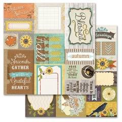 Sunflower Cut Apart - Sunflower Splendor Collection 12X12 Adorn It Paper