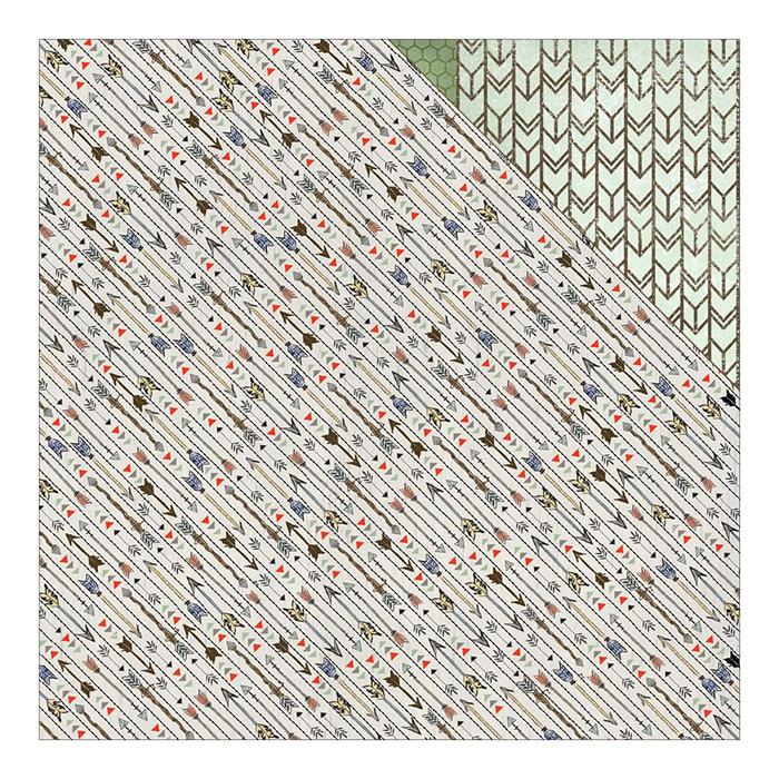 Aarow Stripe Family Path - 12X12 Adornit Paper