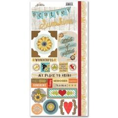 Scatter Sunshine - Adorn It Cardstock Sticker