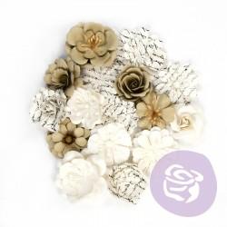 Prima Paper Flowers 16 Pcs 655350599454