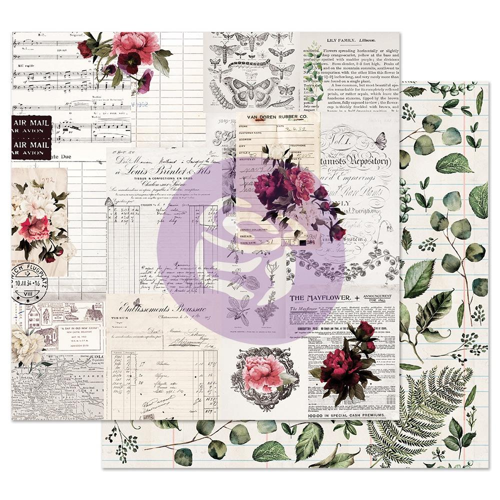 Rose Receipts Midnight Garden Foiled Double-Sided Cardstock 12X12