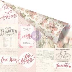 Love Story Pink Foiled Double-Sided Cardstock 12X12- Notes that Last Forever