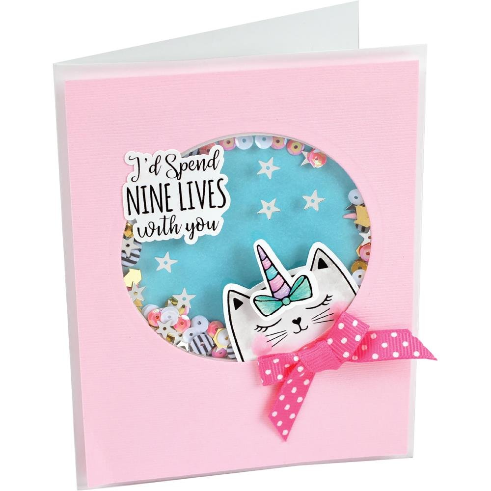 Nine Lives Sizzix Framelits Die & Stamp Set By Katelyn Lizardi 6/Pkg