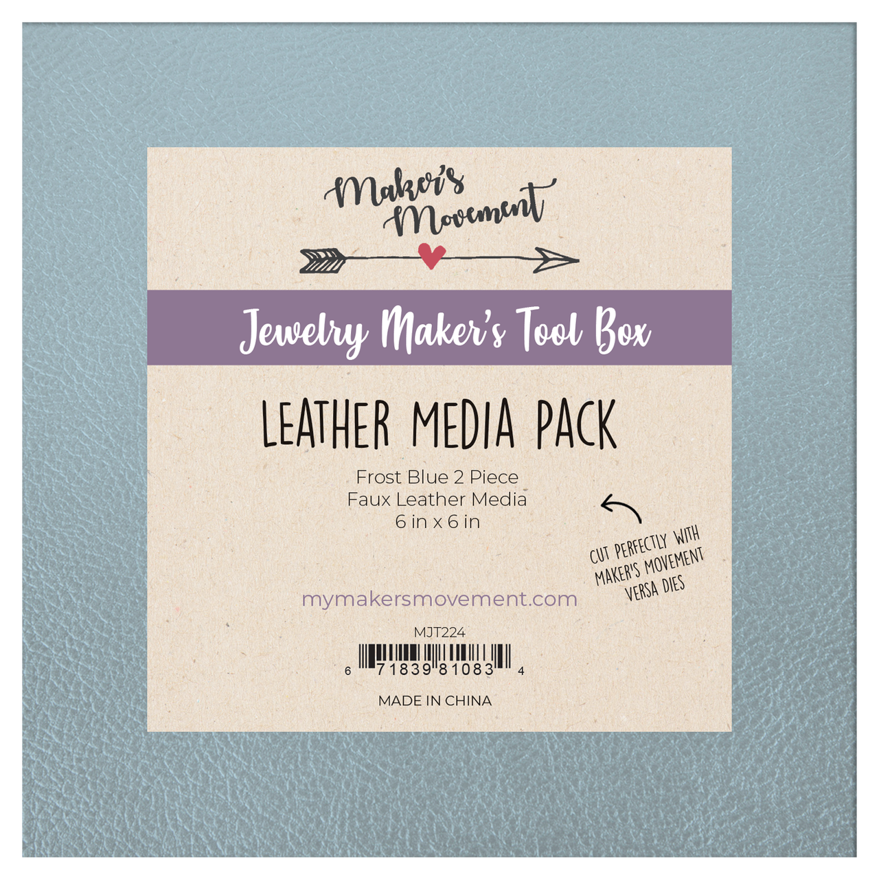 Leather Media Pack- Frost Blue