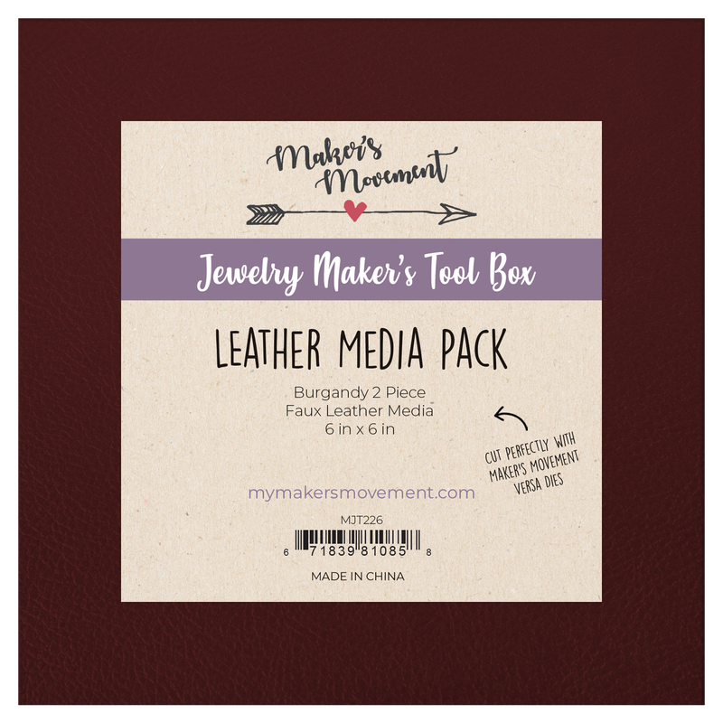 Leather Media Pack- Burgandy