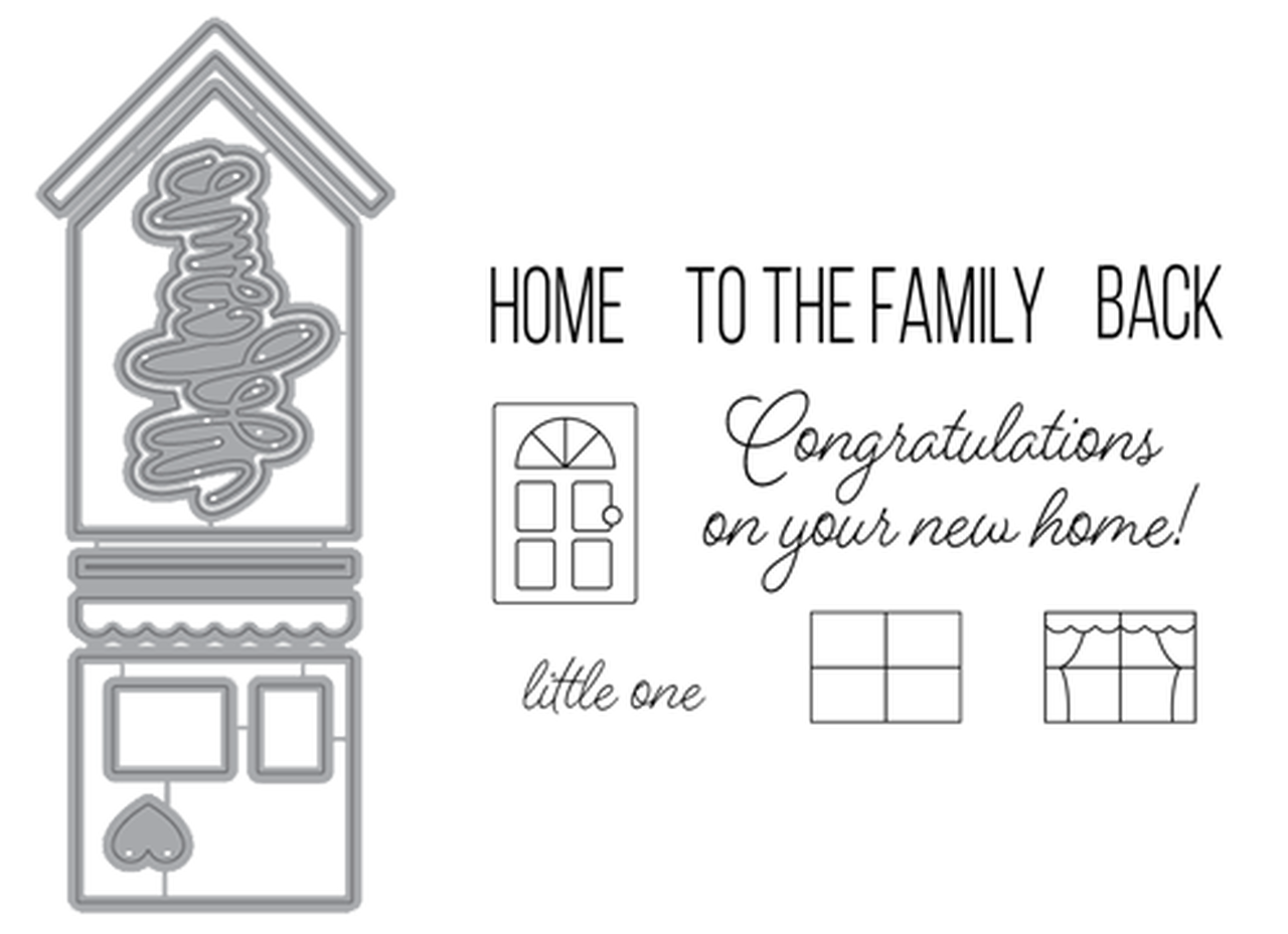 Welcome Home Die and Stamp set