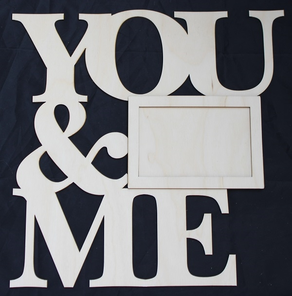 Clear Scraps DIY Word Frame- You & Me