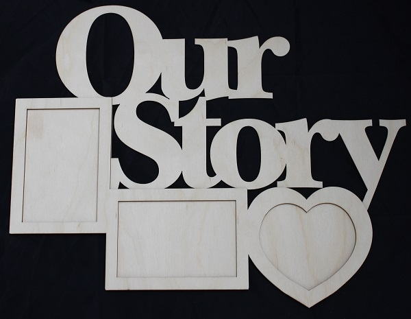 Clear Scraps DIY Word Frame- Our Story