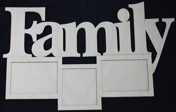 Clear Scraps DIY Word Frame- Family