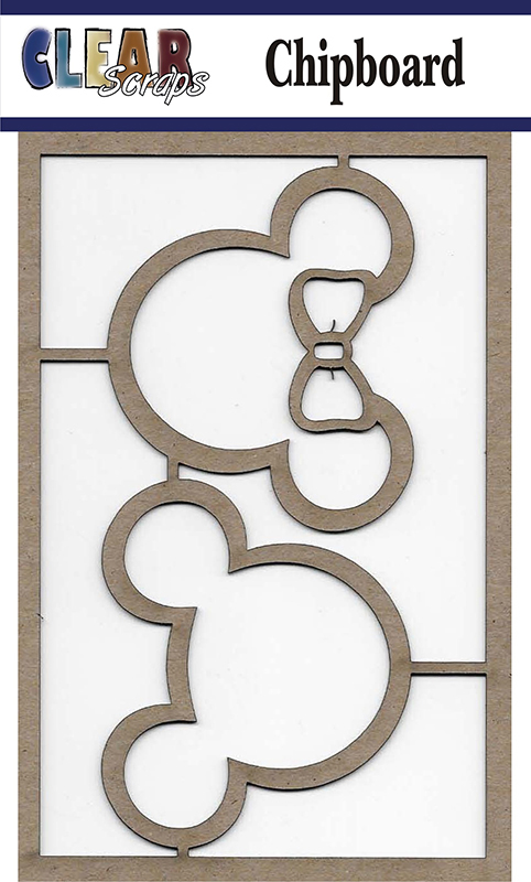 Clear Scraps- Chipboard Mickey and Minnie Mouse