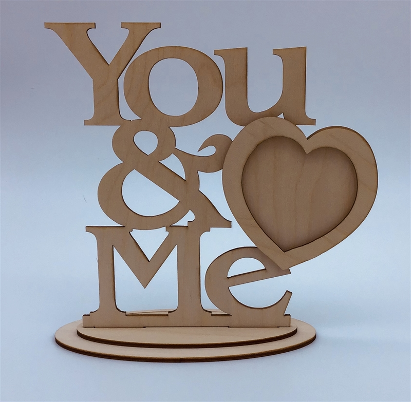 Decorative Wood Frame- You and Me