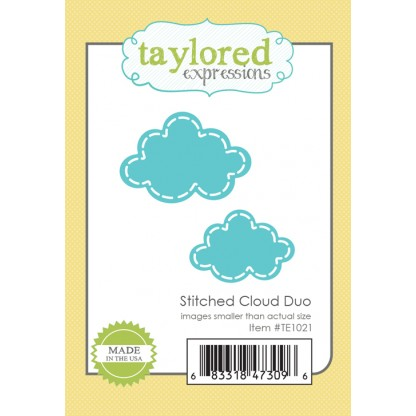 Taylored Expressions- Stitched Cloud Duo Die