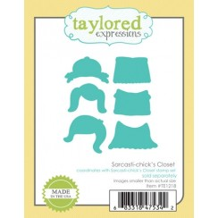Taylored Expressions Sarcastic-chick's closet diecut