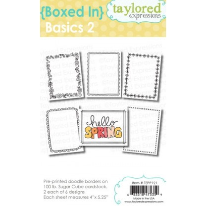 Taylored Expressions {boxed in} basics 2