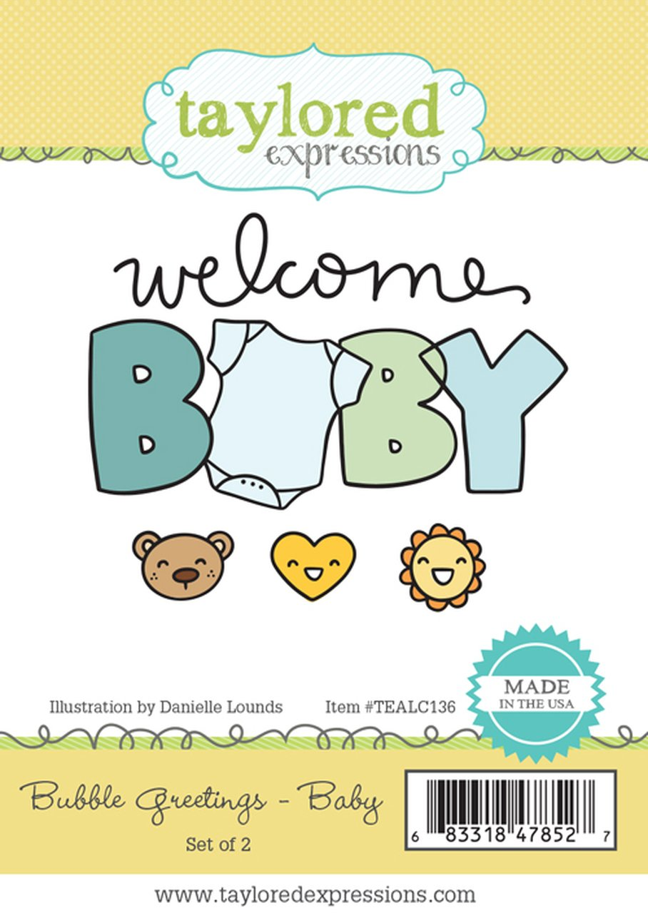 Taylored Expressions BUBBLE GREETINGS - Baby