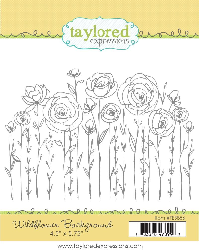 Taylored Expressions stamp- Wildflower Background