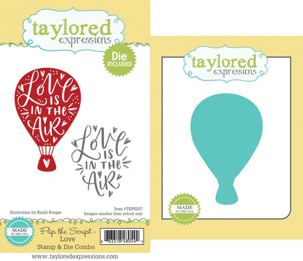 Flip the Script LOVE Stamp & Die Combo - TE