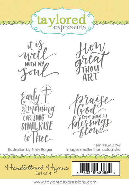 Handlettered Hymns- Taylored Expressions Stamp