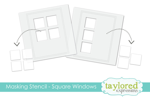 6x6 Masking Stencil-SQUARE WINDOW Taylored Expressions
