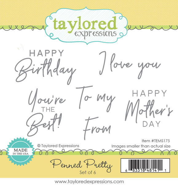 Penned Pretty- Taylored Expressions Stamp