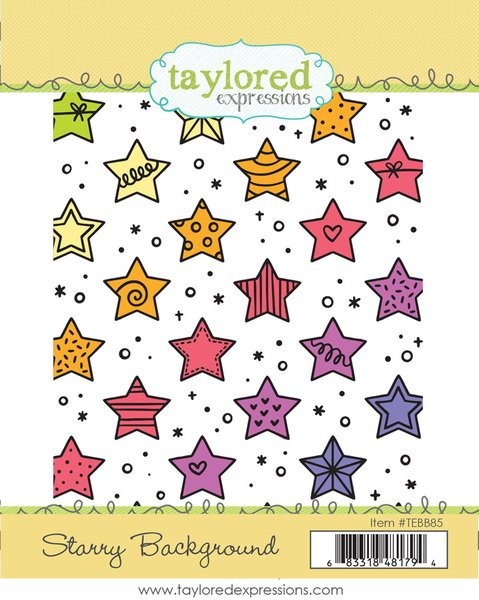 Starry Background - Taylored Expressions Stamp -