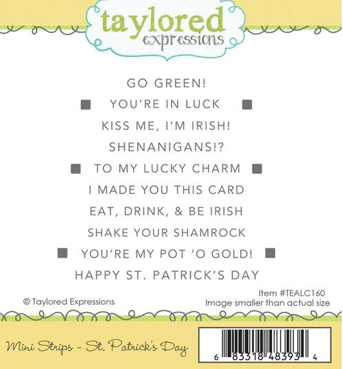 Mini Strips St. Partick's Day- Taylored Expressions Stamp