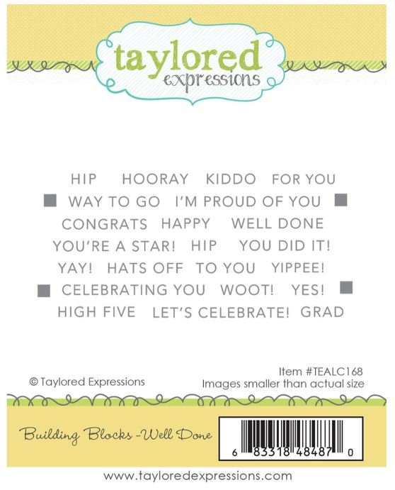BUILDING BLOCKS - WELL DONE Taylored Expressions Stamp Set