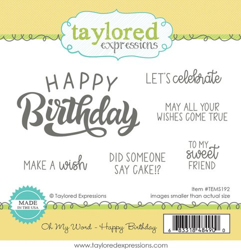 OH MY WORD - HAPPY BIRTHDAY - Taylored Exressions