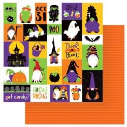 Gnome For Halloween Double-Sided Cardstock 12X12 Trick Or Treat