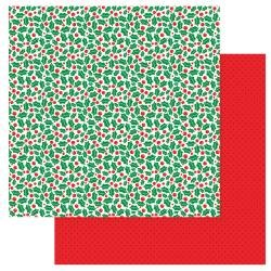 Gnome For Christmas Double-Sided Cardstock 12X12 Holly Jolly