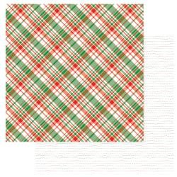 Gnome For Christmas Double-Sided Cardstock 12X12 Flannel Shirt