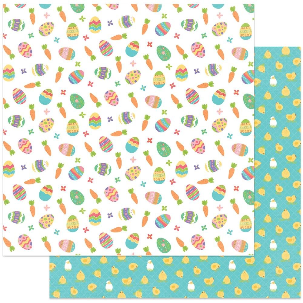 Egg Hunt -Baskets Of Bunnies Double-Sided Cardstock 12X12