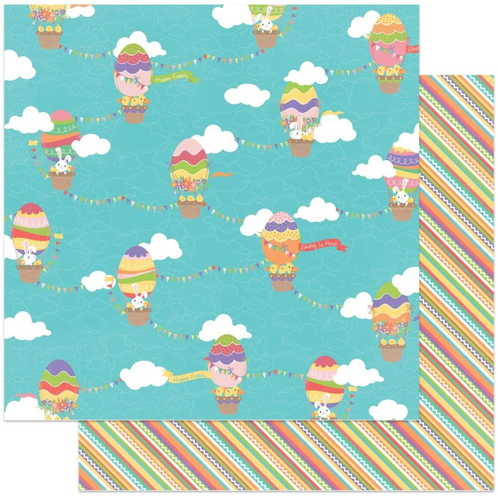 Baskets Of Bunnies Double-Sided Cardstock 12X12-Up & Away