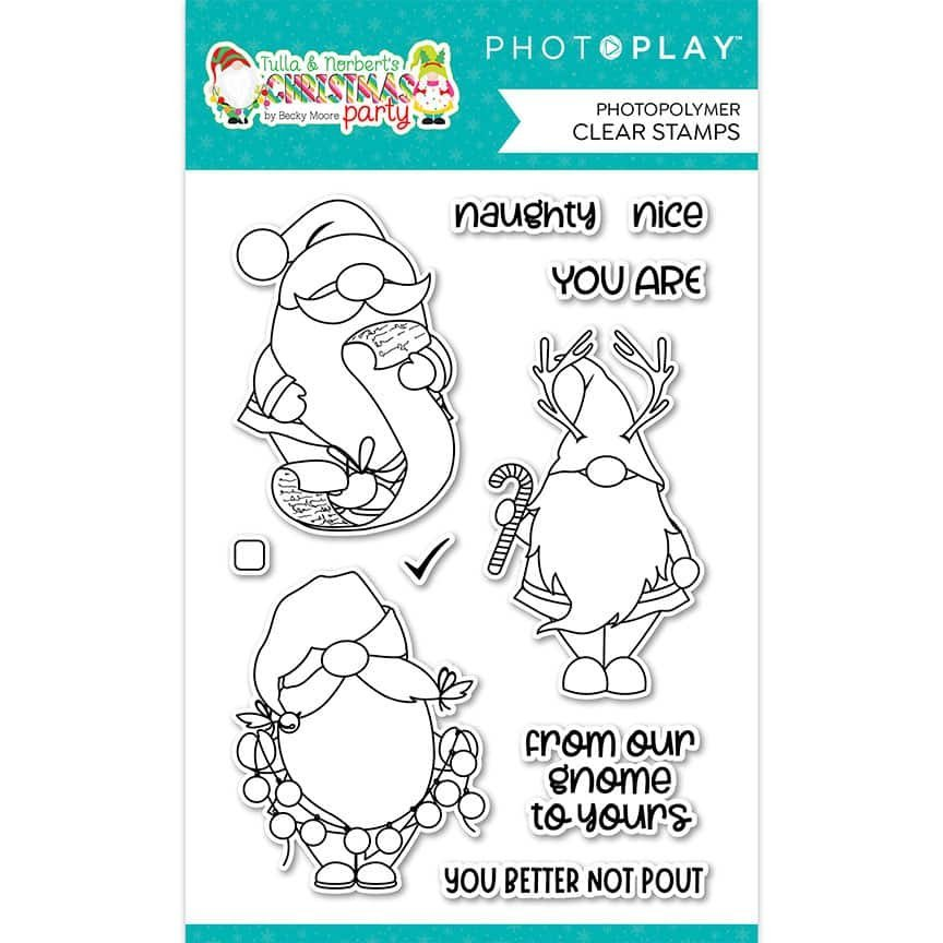 PhotoPlay Photopolymer Clear Stamps-Gnomies