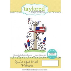 Taylored Expressions stamp- You've got mail Patriotic