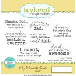Taylored Expressions My Favorite Dad Stamps
