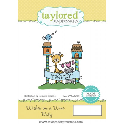 Taylored Expressions Stamp Set- Wishes on a Wire: Baby