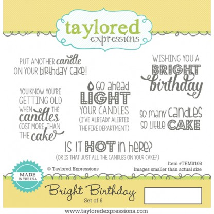 TE stamp- Bright Birthday