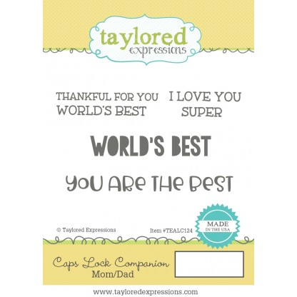 Taylored Expressions Stamp Set- Caps Lock Companion: Mom/Dad