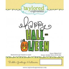 Bubble Greetings Halloween - Taylored Expressions Stamp