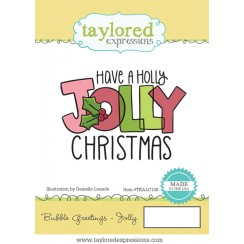 Bubble Greetings Jolly - Taylored Expressions Stamp