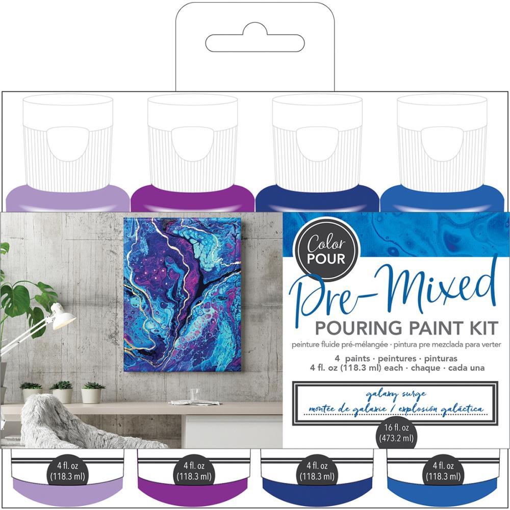 Galaxy Surge- American Crafts Color Pour Pre-Mixed Paint Kit 4/Pkg